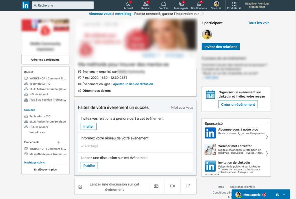 Créer un événement LinkedIn