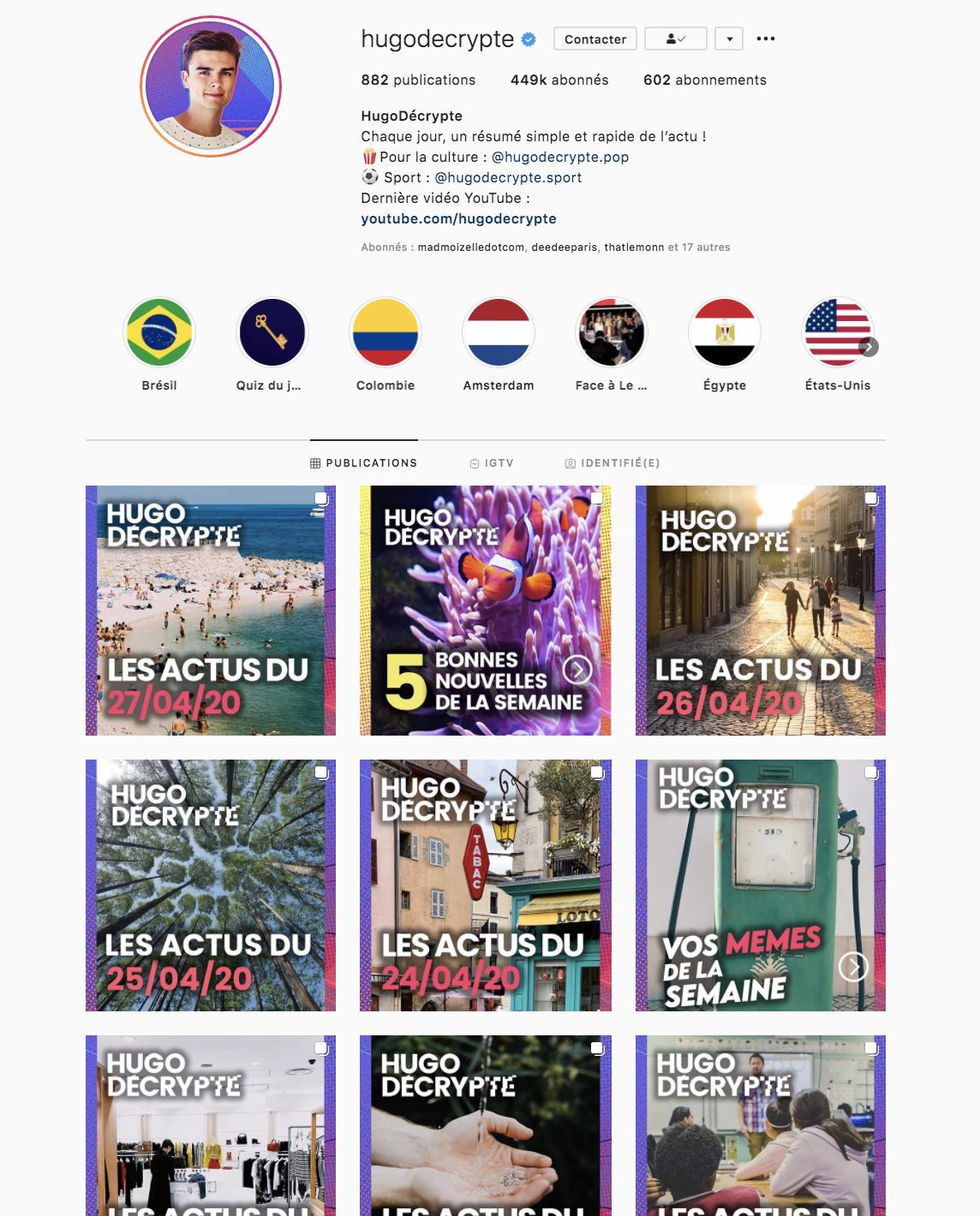 Lancer sa marque sur instagram Hugo dEcrypte